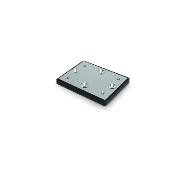 Rod holder deck mount plate